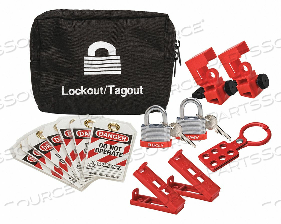 PORTABLE LOCKOUT KIT BLACK 4-3/4 H by Condor