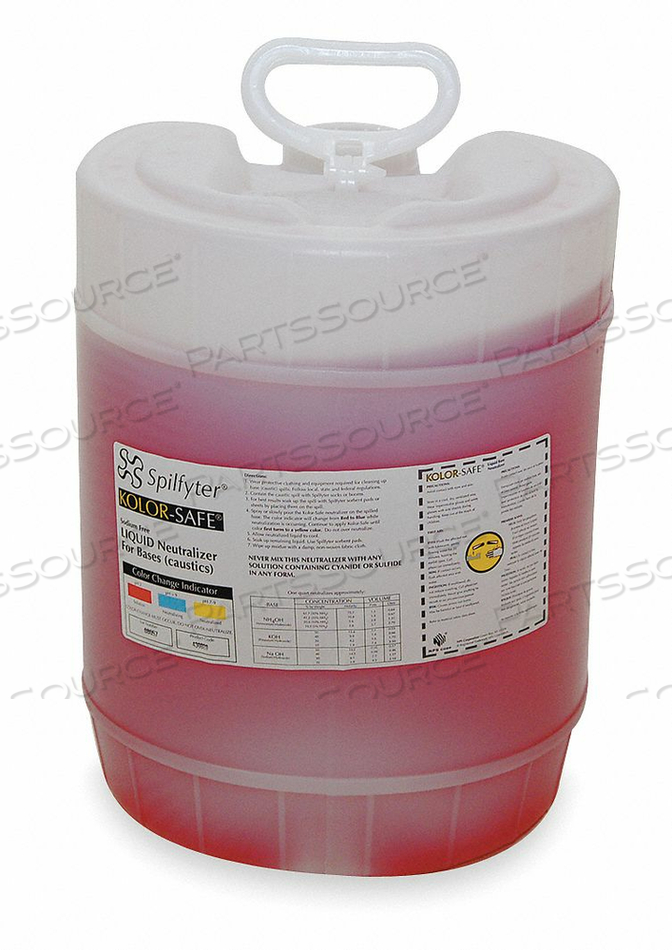 CHEMICAL NEUTRALIZER BASES 5 GAL by Spilfyter