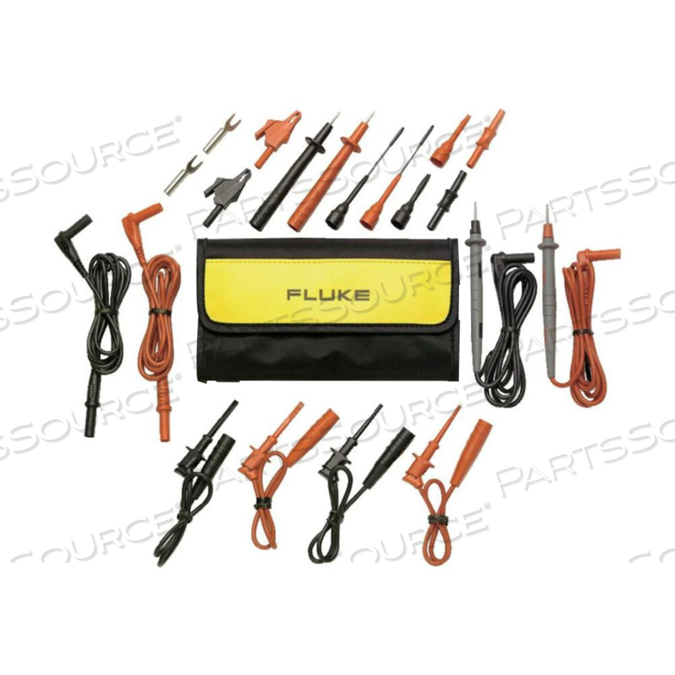 TL81A DELUXE ELECTRONICS TEST LEAD SET - BLACK/RED by Fluke Electronics Corp (Biomedical Div.)