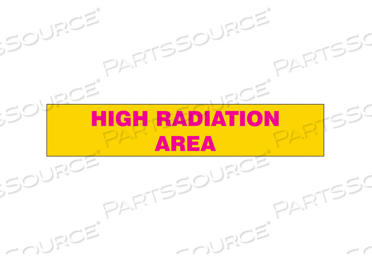 RADIATION SLIDE SIGN INSERT 8 W 1-1/2 H by Condor