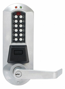 ELECTRONIC LOCKS CYLINDRICAL SATINCHROME by Kaba