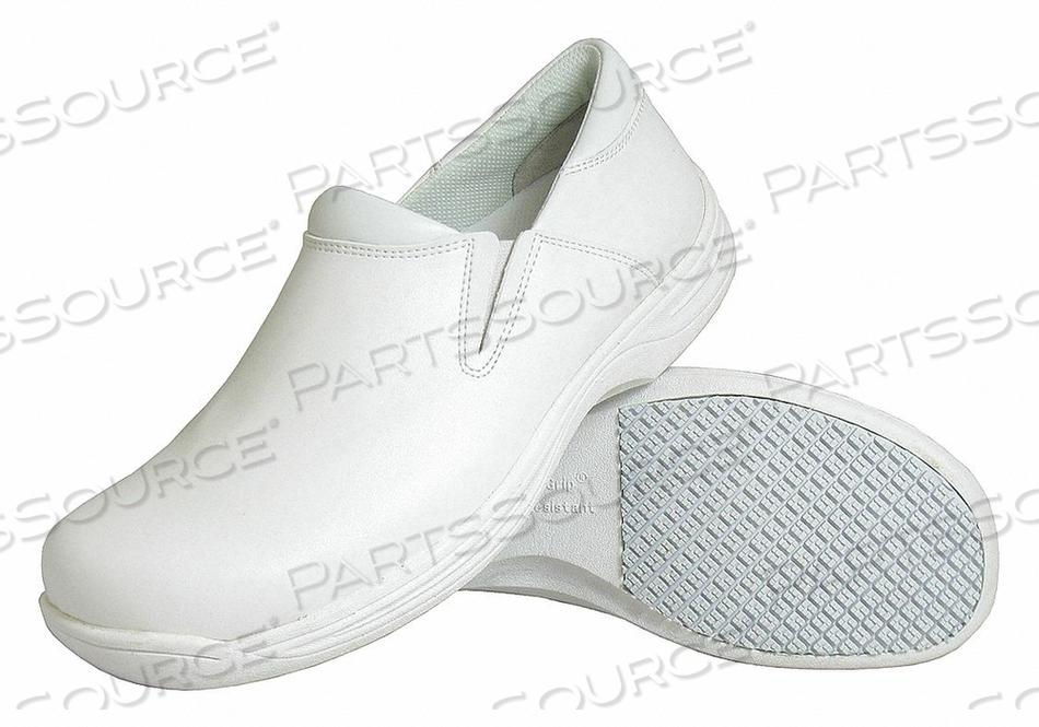 LOAFER SHOE 10-1/2 MEDIUM WHITE PLAIN PR by Genuine Grip