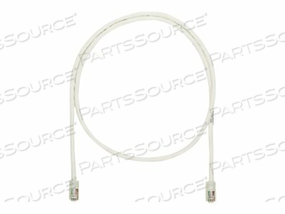 PANDUIT NETKEY - PATCH CABLE - RJ-45 (M) TO RJ-45 (M) - 6 FT - UTP - CAT 5E - IEEE 802.3AF/IEEE 802.3AT/IEEE 802.3BT - SNAGLESS, STRANDED - OFF WHITE by Panduit