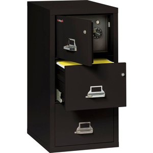 """FIREPROOF 3 DRAWER VERTICAL SAFE-IN-FILE LEGAL 20-13/16""""WX31-9/16""""DX40-1/4""""H BLACK by Fire King"""