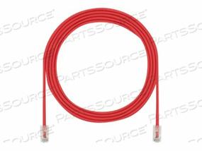 PANDUIT TX5E-28 CATEGORY 5E PERFORMANCE - PATCH CABLE - RJ-45 (M) TO RJ-45 (M) - 3 FT - UTP - CAT 5E - IEEE 802.3AF/IEEE 802.3AT - HALOGEN-FREE - RED by Panduit