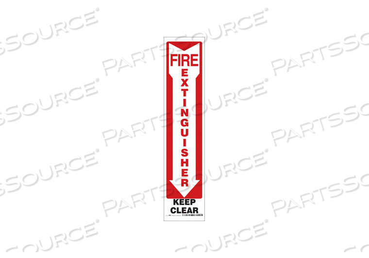 SAFETY SIGN 4 W 18 H 0.004 THICKNESS by Condor