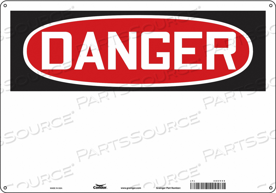 SAFETY SIGN 20 W 14 H 0.055 THICKNESS by Condor