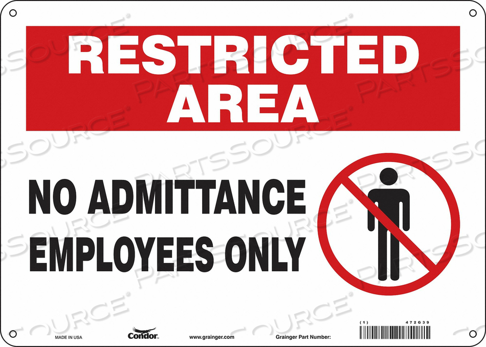 J7026 SAFETY SIGN 14 W 10 H 0.055 THICKNESS by Condor