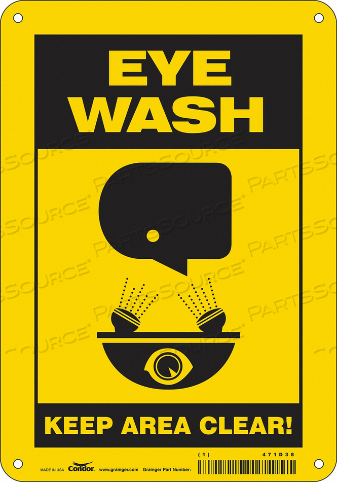 SAFETY SIGN 7 W X 10 H 0.060 THICK by Condor