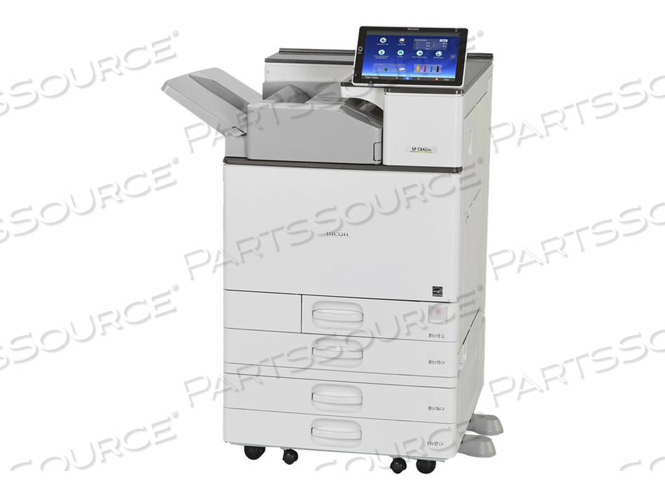 RICOH SP C842DN - PRINTER - COLOR - DUPLEX - LASER - A3/LEDGER - 1200 DPI - UP TO 60 PPM (MONO) / UP TO 60 PPM (COLOR) - CAPACITY: 1200 SHEETS - USB 2.0, LAN, USB 2.0 HOST