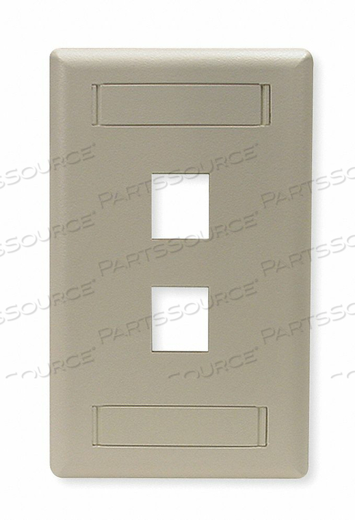 WALL PLATE 2 PORT by Hubbell Power Systems