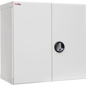 """MEDICAL STORAGE CABINET WITH KEY LOCK, 24-1/8""""W X 14-3/16""""D X 24-1/16""""H, WHITE by Fire King"""