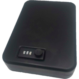 """COMPACT PORTABLE SECURITY BOX SAFE COMBO LOCK 7""""W X 10""""D X 2""""H BLACK by Fire King"""