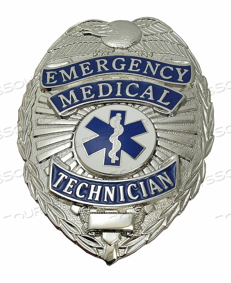 METAL BADGE EMERGENCY MEDICAL TECH NCKL by Heros Pride