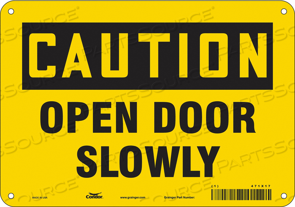 J6963 SAFETY SIGN 10 W X 7 H 0.060 THICK by Condor