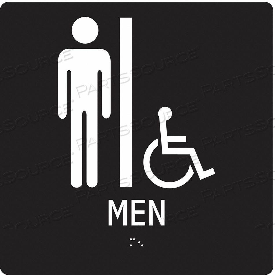 SAFETY SIGN MEN 8 W 8 H 0.125 THICK. by Condor
