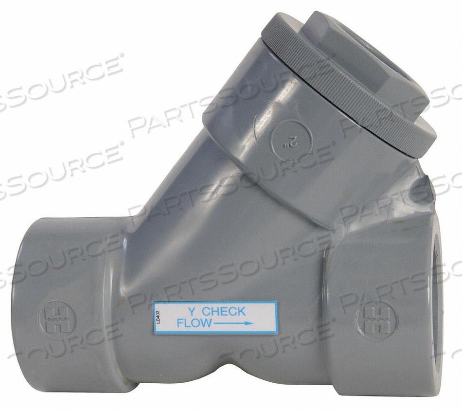 Y CHECK VALVE PVC 1-1/4 FNPT by Hayward
