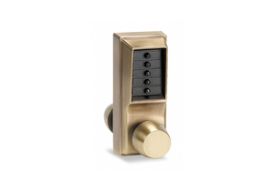 PUSH BUTTON LOCK ENTRY ANTIQUE BRASS by Kaba
