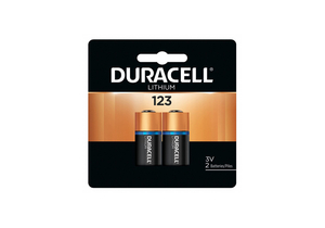 BATTERY, 123, LITHIUM, 3V, 1550 MAH (PACK OF 2) by Duracell