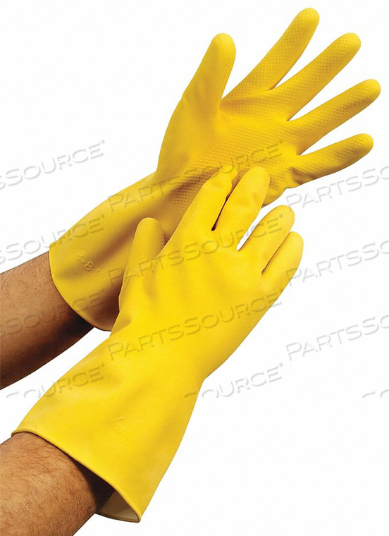 J4882 GLOVES 17 MIL SIZE L YELLOW PR by Condor