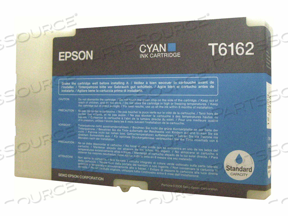EPSON T6162 - CYAN - ORIGINAL - INK CARTRIDGE - FOR B 300, 500DN by Epson