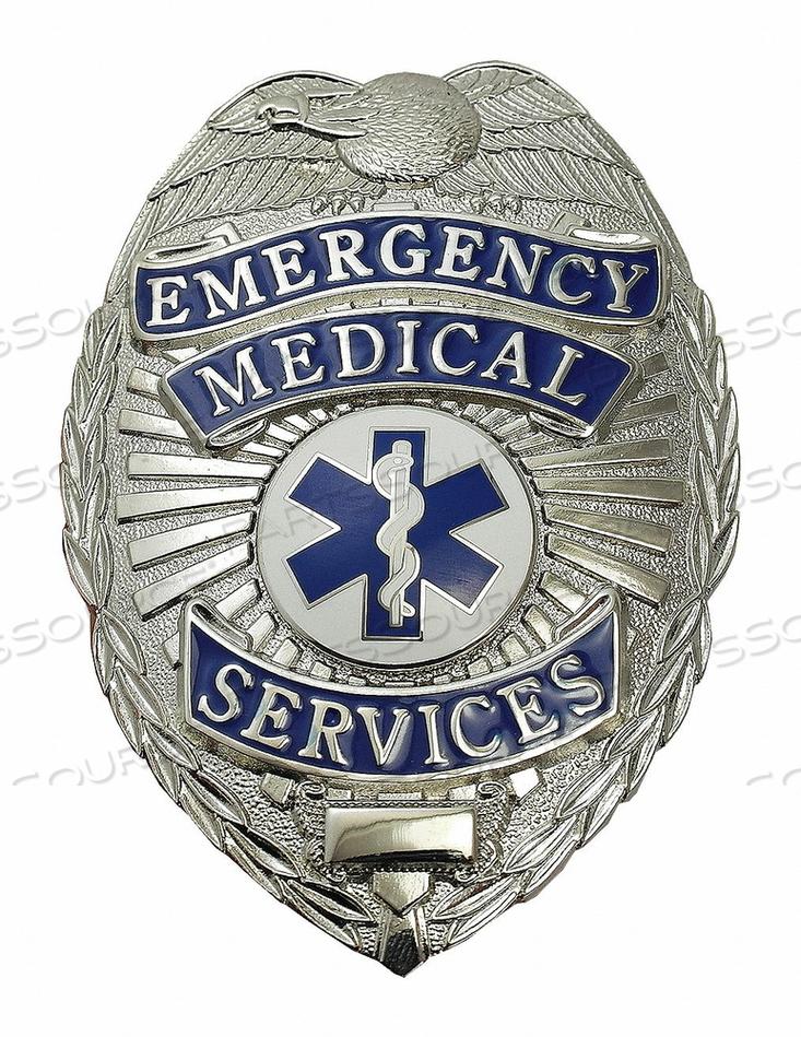 METAL BADGE EMERGENCY MEDICAL SERVICES by Heros Pride