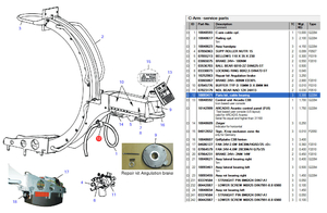 CABLE BEARING PART KIT by Siemens Medical Solutions