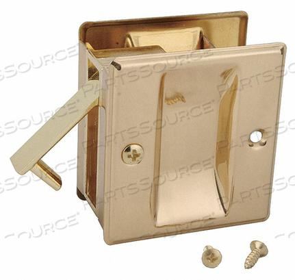 POCKET DOOR PASSAGE LOCK-BRIGHT BRASS by John Sterling