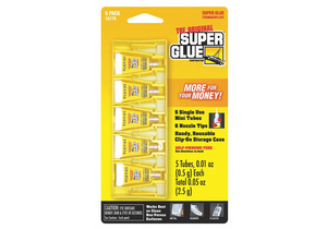 INSTANT ADHESIVE 0.5G TUBE CLEAR PK5 by Super Glue