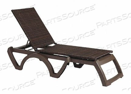 CHAISE LOUNGE ESPRESSO ADJUSTABLE 14 H by Grosfillex