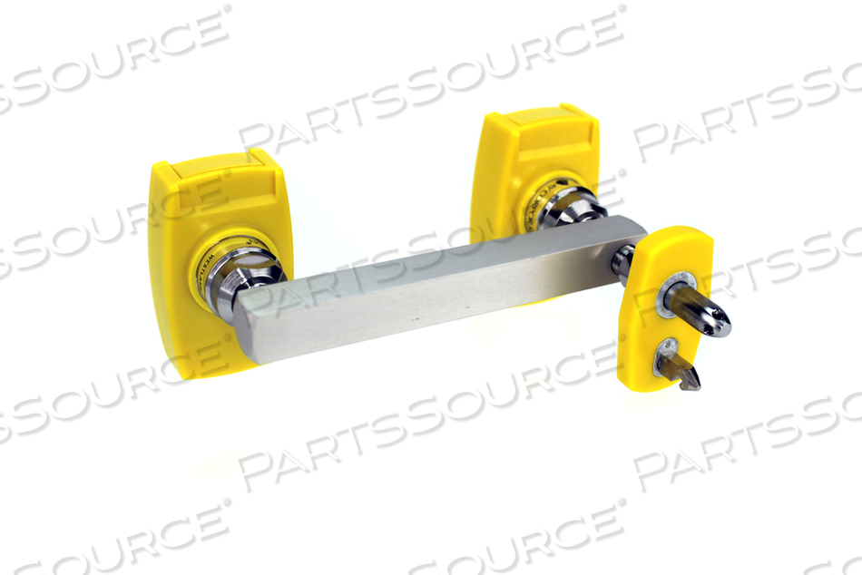 CHEMETRON Y-BLOCK, MALE QC INLET-LEFT X FEMALE COUPLER OUTLETS, MED AIR
