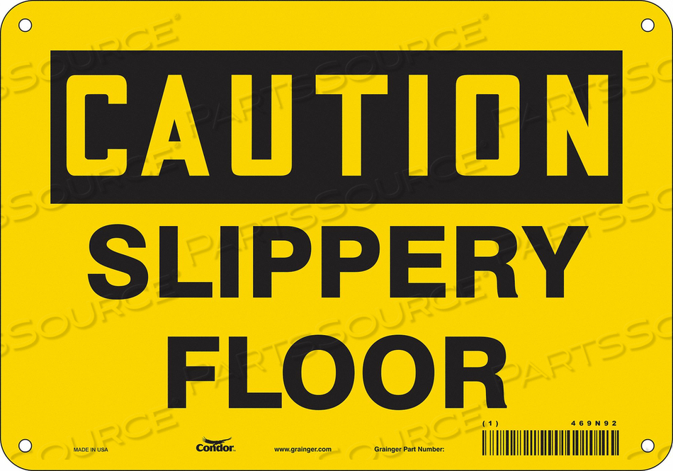 J6969 SAFETY SIGN 10 W 7 H 0.055 THICKNESS by Condor