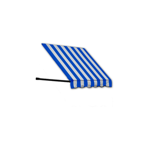WINDOW/ENTRY AWNING 8-3/8'W X 3-11/16'H X 3'D BRIGHT BLUE/WHITE by Awntech