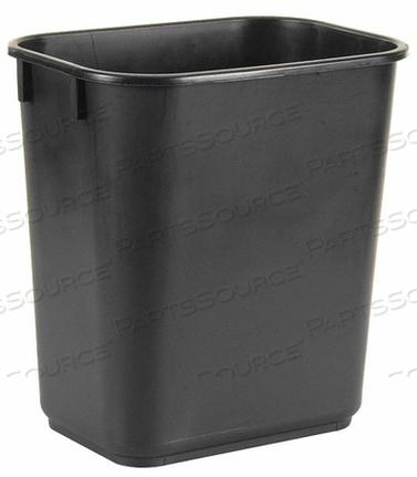 D2128 WASTEBASKET RECTANGULAR 3-1/2 GAL. BLACK by Tough Guy
