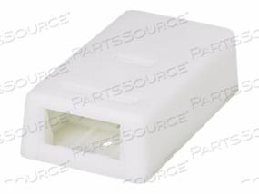 PANDUIT MINI-COM ULTIMATE ID - SURFACE MOUNT BOX - WHITE - 2 PORTS