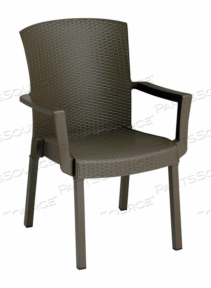 STACKING ARMCHAIR ESPRESSO MATTE 300 LB. by Grosfillex