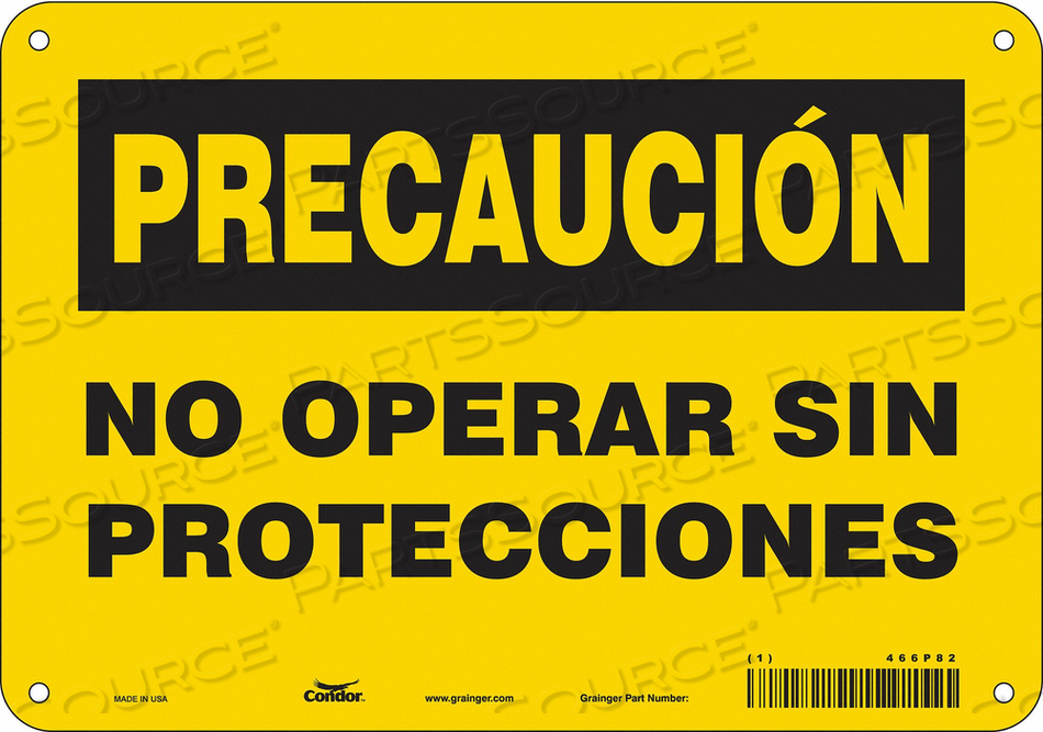 SAFETY SIGN 7 H 10 W PLASTIC by Condor