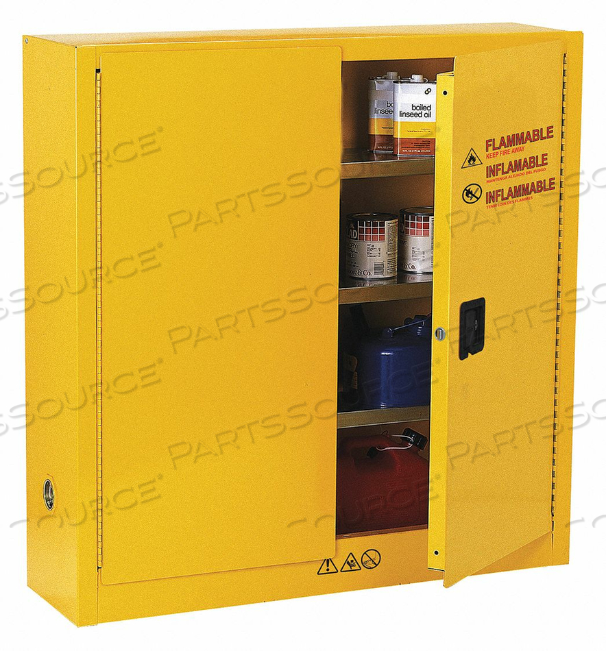 FLAMMABLE SAFETY CABINET 24 GAL. YELLOW by Condor
