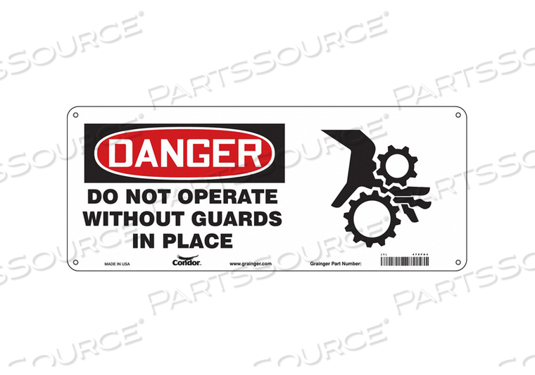 SAFETY SIGN 17 WX7 H 0.032 THICKNESS by Condor