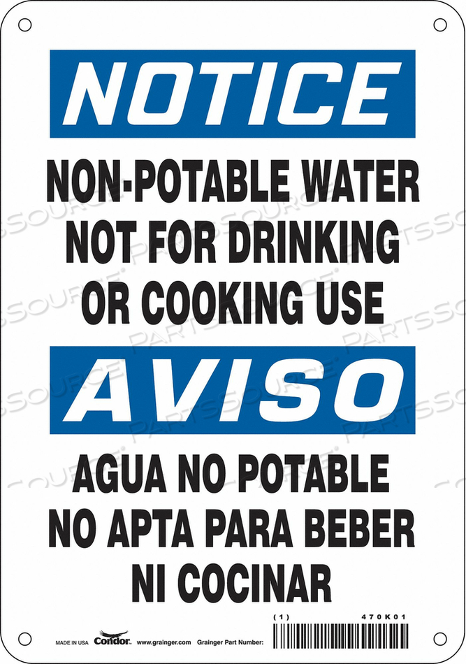 SAFETY SIGN 7 W X 10 H 0.055 THICK by Condor