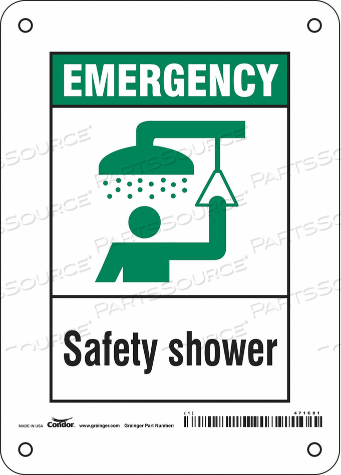 SAFETY SIGN 5 W X 7 H 0.055 THICK by Condor