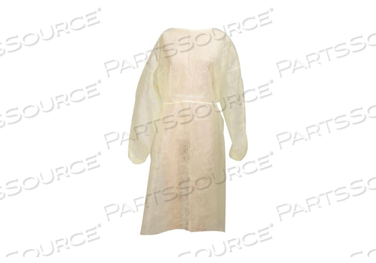 PROTECTIVE PROCEDURE GOWN, X-LARGE, YELLOW, NONSTERILE, DISPOSABLE (50/CS) by McKesson