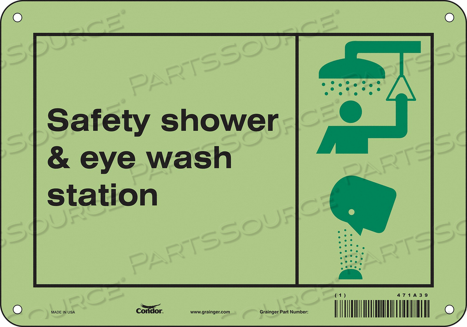 SAFETY SIGN 10 W X 7 H 0.070 THICK by Condor