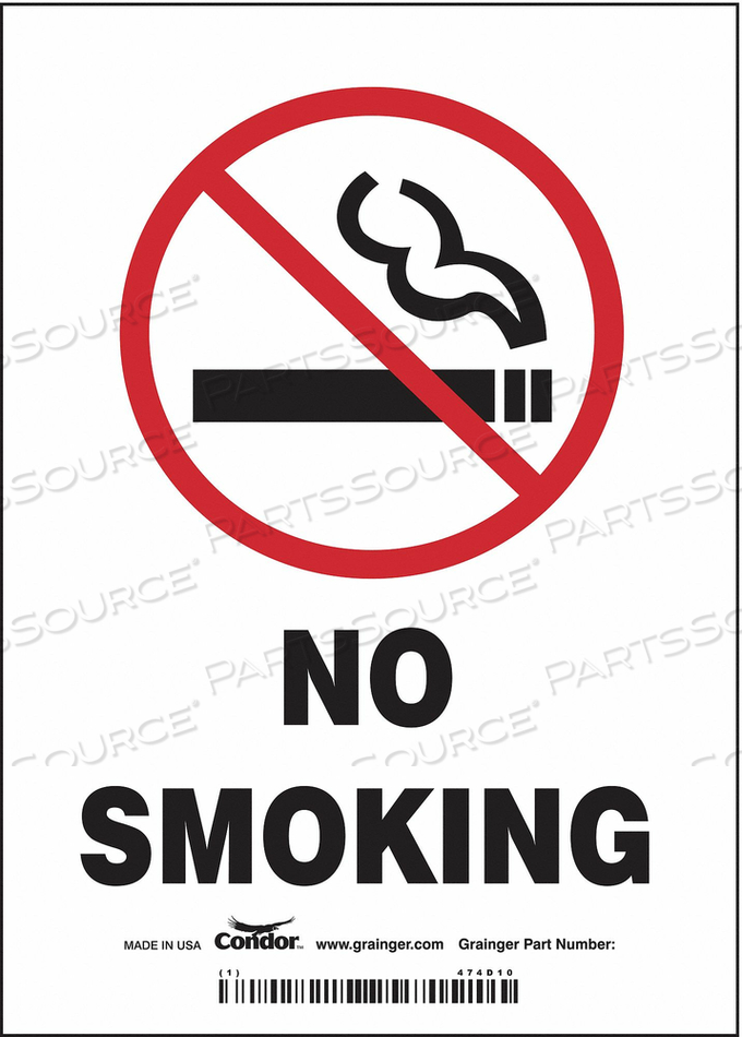 J7014 SAFETY SIGN 5 W 7 H 0.004 THICKNESS by Condor