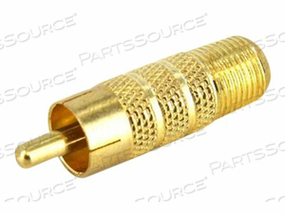 STARTECH.COM RCA TO F TYPE COAXIAL ADAPTER M/F - VIDEO ADAPTER - COMPOSITE VIDEO - RCA (M) TO F CONNECTOR (F) - GOLD by StarTech.com Ltd.