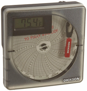 """CHART RECORDER 4"""" TEMPERATURE WITH DISPLAY, -22 TO +122F, -30 TO 50C, 7 DAY AND 24 HOUR by Dickson"""