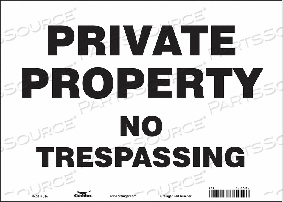 J7022 SAFETY SIGN 14 W 10 H 0.004 THICKNESS by Condor