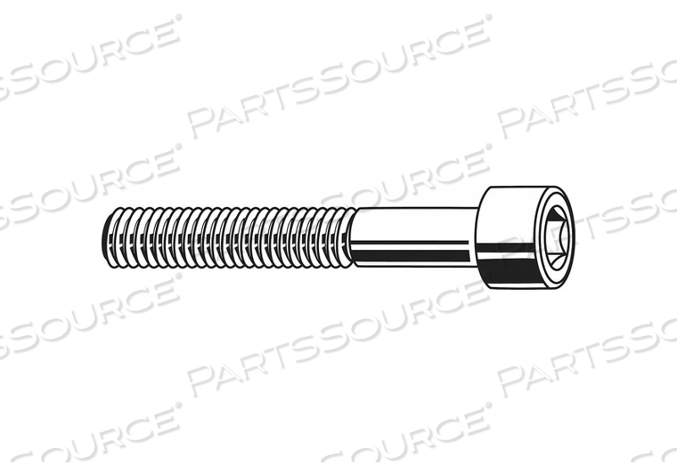 SHCS CYLINDRICAL M6-1.00X45MM PK1000 by Fabory