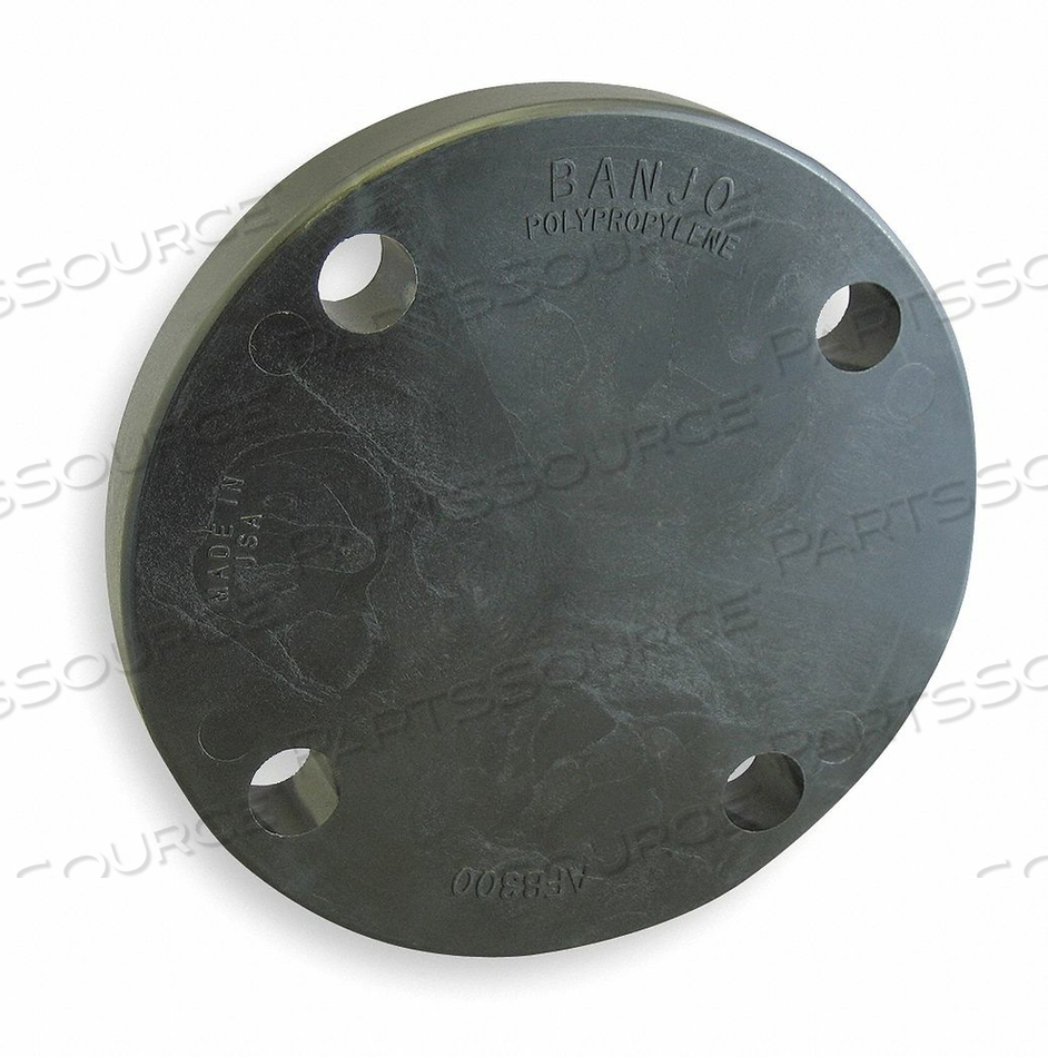 BLIND FLANGE 3 IN CLASS 150 POLY BLACK by Banjo