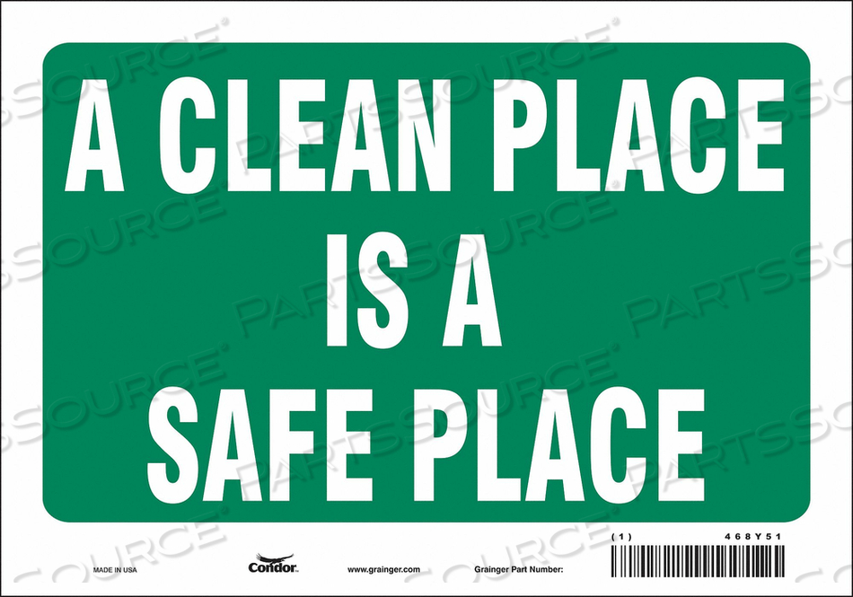 SAFETY SIGN 10 7 0.004 THICKNESS by Condor